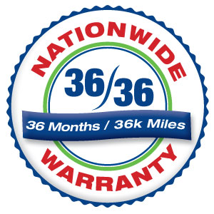 3-Year, 36,000-Mile Nationwide Warranty at Honest-1 Auto Care Milltown